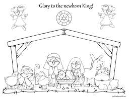Small Picture Childrens Coloring Pages Of The Nativity Coloring Coloring Pages