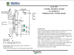 diagram for wiring an ace 959 4 wire modbus rs485 i f module as 2 wire