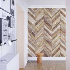 chevron harringbone wood removable