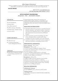 Sample Resume For Back Office Executive resume format for back office Enderrealtyparkco 1