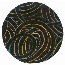 lr resources contemporary miami 5 ft round plush indoor area rug