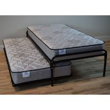 Duralink Metal Twin Pop-Up Trundle Bed in Black by Humble Abode ...