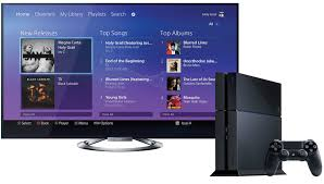 sony tv with ps4. playstation 4 sony music unlimited tv with ps4