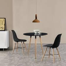 Esstisch Mit 2 Stühlen Schwarz ø80cm Tisch Essgruppe Stühle Retro Ebay