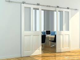 8ft barn door stainless steel hollow cut twin wheel sliding barn wood door closet door hardware