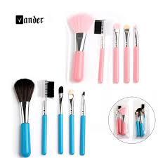 vander 5pcs professional makeup brushes set beauty cosmetic eyeshadow powder pinceis styling tools make up brush kit pink blue