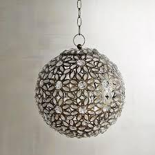 caravan clear gem round hanging lantern