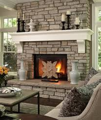 fascinating images of living room decoration using various stone fireplace cool picture of white living