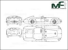 Aston Martin Dbr1 1957 2d Zeichnung 22466 Model Copy Deutsch