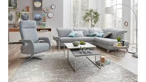 Interliving Sofa Serie 4101 Eckkombination 8881 Lichtblau Bezug Yelda Light Blue Metallfüße Stellfläche Ca 283 X