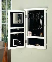 white wall mounted jewelry box border wall with lock by direct jewelry storage on appliance smart