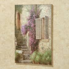 stairway of flowers canvas wall art multi warm touch to zoom on stairway wall art with stairway of flowers canvas wall art