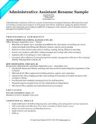 Executive Assistant Resume Examples New Resume Examples 48 For Receptionist Together With Objective For