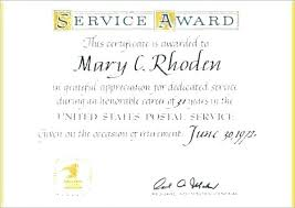 Employee Service Award Certificate Template Long 2010 T
