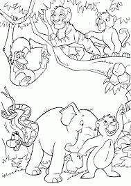 spotlight coloring pages jungle book disney 1