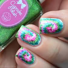 Polished Lifting: 31dc2017 - Tie Dye Nail Art inspired by ...