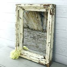 rustic wood framed mirrors. Mirror With Wood Frame Rustic Wall Country Framed Antique Farmhouse Inspirations Metal Mirrors