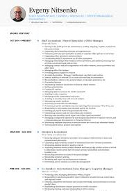 Staff Accountant Resume Samples Visualcv Resume Samples Database