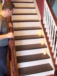 Removing Stair Carpet Remodelaholic Under 100 Carpeted Stair To Wooden Tread Makeover Diy