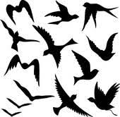 flying sparrow clipart.  Flying Cute Flying Bird Cartoon Flying Silhouettes For Sparrow Clipart L