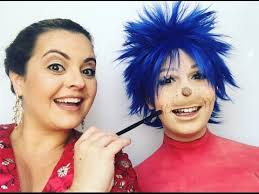 thing 1 thing 2 the cat in the hat makeup tutorial
