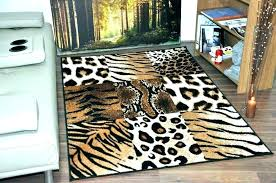 animal rugs for living room faux