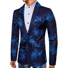 2019 <b>Tuxedos Blazer Red Blue</b> Flowers Digital Printing Suit Dress ...