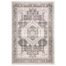 lr home contemporary medallion area rug 5x7 stone magnet in stone