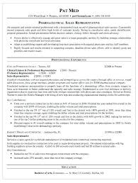 Pharmaceutical Sales Sample Resume Piqqus Com