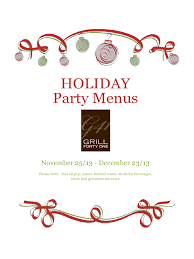 Holiday Menu Template 3 Free Templates In Pdf Word Excel