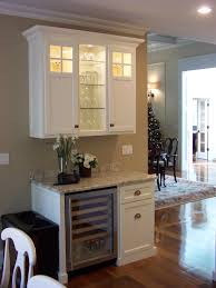 Wine Serving Station With Built In Wine Fridge And Upper