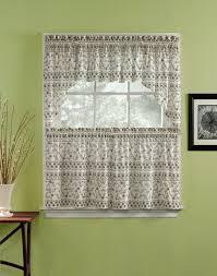 Grey Blue Kitchen Curtains