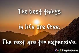 Free Quotes About Life The best things in life are free The rest are too expensive 3