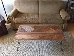 diy pallet hairpin legs coffee table
