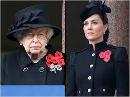 Photos: Queen broke tradition by standing away from Kate Middleton