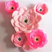 Cardstock Paper Flower 2019 Unique Pink Giant Cardstock Crepe Paper Flowers Wedding