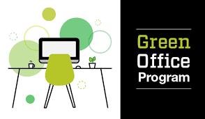 office design program. green office program logo design