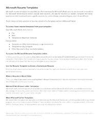 Resume Template Downloads For Microsoft Word Microsoft Word Resume Template Free Download Resume Templates Free
