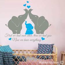 elephants nursery wall sticker wall