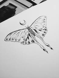 Luna Moth Tattoo Design Mandala Henna Moon Dotwork татуэскизы