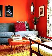 burnt orange accent wall orange accent wall orange accent wall living room orange wall living room