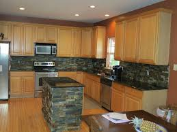 Kitchen With Slate Floor Stone Backsplash For Kitchen Giallo Ornamental Granite With