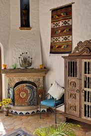 Southwest Fireplace Design Ideas Hacienda Living Area Love The Fireplace Mexican Style