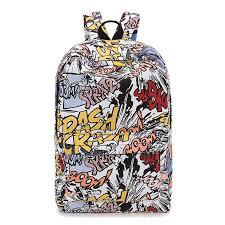 <b>Backpack</b> Cartoon Street <b>Graffiti</b> Canvas <b>Backpack</b> Girl Female Best ...