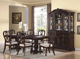 6 Person Espresso Lacquer Teak Wood Dining Table With Double Legs Solid Wood Formal Dining Room Sets