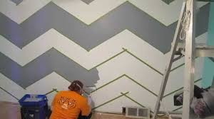 Small Picture How to Paint a Zig Zag Wall Chevron Pattern YouTube