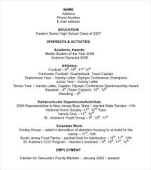 Sample College Resume Template Resume Templates College Student ...