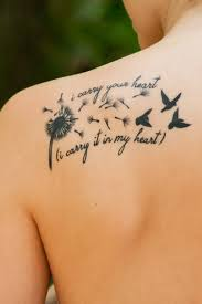 Beautiful Tattoos Quotes Best of Beautiful Dandelion Birds Love Tattoo Quote On Upper Back I Carry