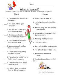 cause and effect worksheets have fun teaching what happened cause effect worksheet 2