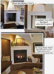 cardboard fireplace diy new fake mantel guuoous faux